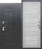 Входная металлическая дверь DOMINANTA Серебро Царга Дуб шале белый